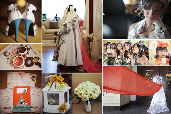 An Avante-garde Fashion Wedding