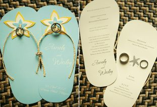 Flippin' over Flipflop Wedding Invites
