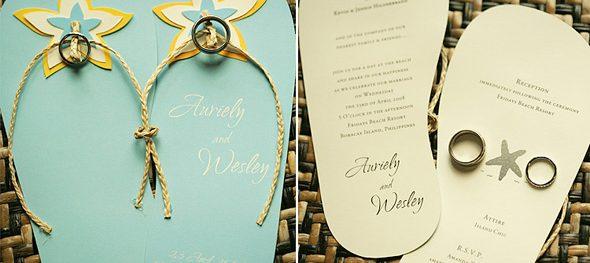 Flippin' over Flipflop Wedding Invites