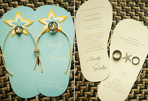 Flippin over Flipflop Wedding Invites Weddings in the Philippines
