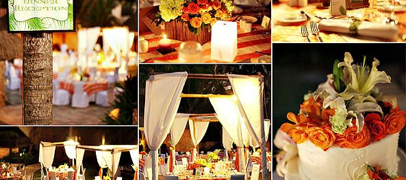Orange and Green Boracay Reception