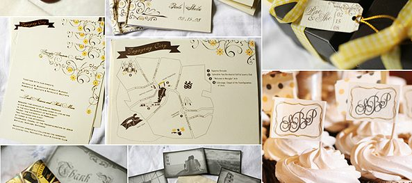 Brown and Yellow Wedding Color Motif