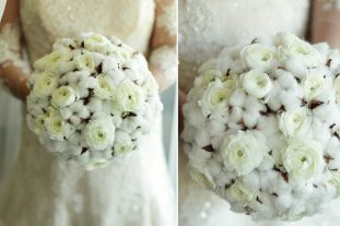 Cotton Pod Floral Bouquets