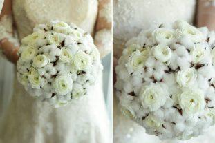 Cotton Pod Floral Bouquets