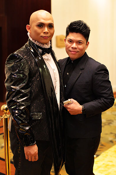 Marex Gaba and Teddy Manuel both wearing Frederick Peralta