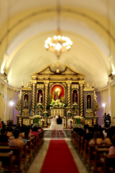 Altar of the San Antonio Church in Makati