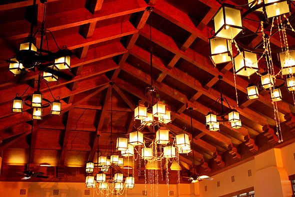The ceiling of the Splendido Clubhouse in Tagaytay, City