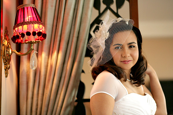 Birdcage Veil Wedding Hairstyles