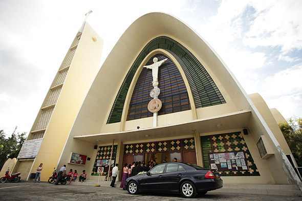 Facade of the Sacred Heart Church Cebu Parish