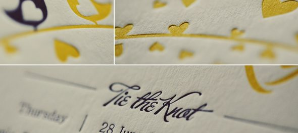 Letterpress wedding invitations: Elegance and craftsmanship