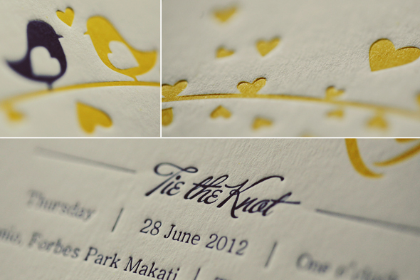 Letterpress wedding invitations elegance and for Letterpress wedding invitations manila philippines