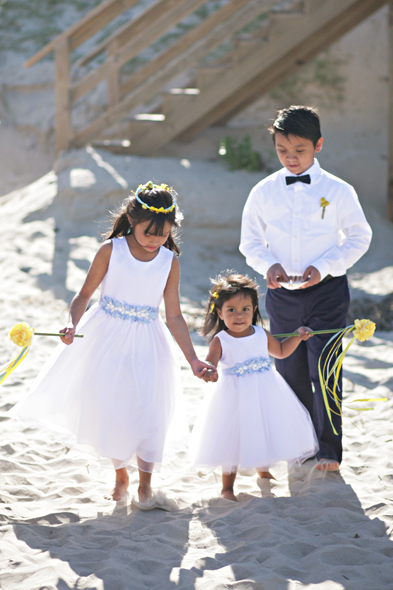 Flower Girls at Beach Wedding