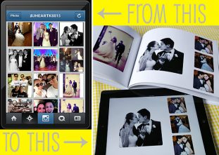 Create a Wedding Album from Facebook and Instagram photos.