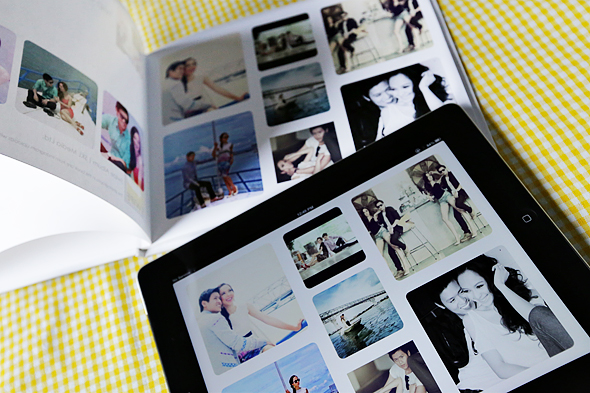 Instagram photos to a printed wedding album