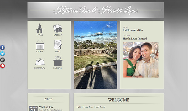 Make your wedding website using Weddinglab.ph